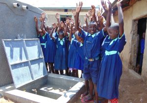 The Water Project:  Students Celebrate Clean Water From The New Rain Tank
