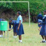 The Water Project: Kerongo Secondary School -  Students Practice Handwashing