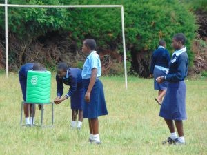 The Water Project:  Students Practice Handwashing