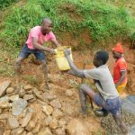 The Water Project: Malimali Community, Shamala Spring -  Passing Concrete