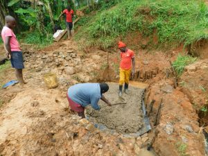 The Water Project:  Laying The Concrete Foundation
