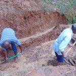 The Water Project: Shivembe Community, Murumbi Spring -  Excavation Begins