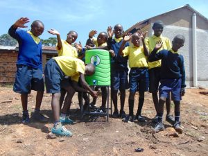 The Water Project:  Boys Using A Handwashing Station