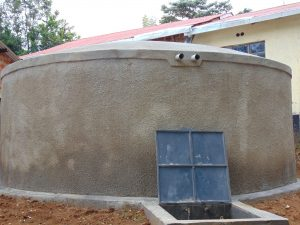The Water Project:  Newly Completed Rain Tank
