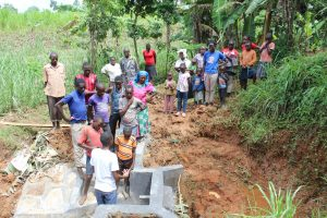 The Water Project:  Learning About The Spring Under Construction