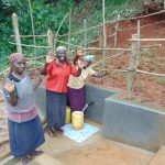 The Water Project: Jivovoli Community, Magumba Spring -  Women Celebrate The Spring
