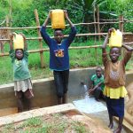 The Water Project: Kimarani Community, Kipsiro Spring -  Ready To Bring Clean Water Home