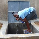 The Water Project: Banja Secondary School -  Students Cups Fresh Rain Tank Water