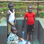 The Water Project: Kimarani Community, Kipsiro Spring -  Smiles At The Spring