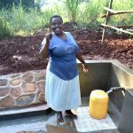 The Water Project: Shikhombero Community, Atondola Spring -  Thumbs Up For Clean Water