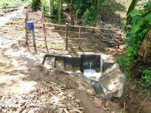 The Water Project:  Newly Completed Imbinga Spring