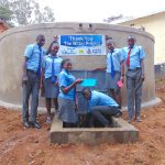 The Water Project: Banja Secondary School -  Students Pose With The New Tank