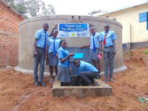 The Water Project:  Students Pose With The New Tank