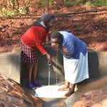 The Water Project: Shikhombero Community, Atondola Spring -  Drinking Directly From The Lifeline