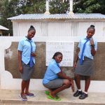 The Water Project: Banja Secondary School -  Girls Pose With New Latrines