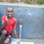 The Water Project: Kimarani Community, Kipsiro Spring -  Enjoying The Soring Water