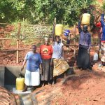 The Water Project: Shikhombero Community, Atondola Spring -  Busy Atondola Spring