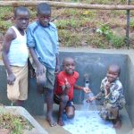 The Water Project: Kimarani Community, Kipsiro Spring -  Kids At The Spring