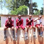 The Water Project: Ebukhuliti Primary School -  Boys Give Thumbs Up For New Latrines