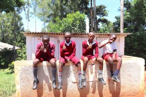 The Water Project:  Boys Give Thumbs Up For New Latrines