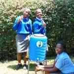 The Water Project: Banja Secondary School -  Girls Use A Handwashing Station