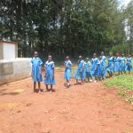 The Water Project: St. Joseph's Lusumu Primary School -  Girls Walk To Their Latrines