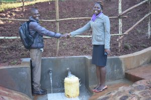 The Water Project:  Field Officers Shake Hands For A Job Well Done