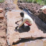 The Water Project: Jivovoli Community, Magumba Spring -  Marking The Foundation