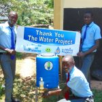 The Water Project: Banja Secondary School -  Boys Wash Their Hands