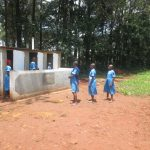The Water Project: St. Joseph's Lusumu Primary School -  Checking Out New Latrines