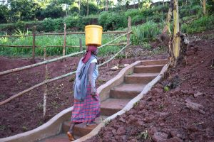 The Water Project:  Stairs Help Ease The Access To And From The Spring