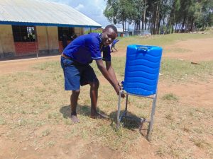 The Water Project:  Students Uses A Handwashing Station