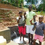 The Water Project: Malimali Community, Shamala Spring -  Thumbs Up For Clean Water