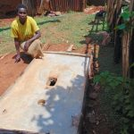 The Water Project: Shivembe Community, Murumbi Spring -  New Sanitation Platform Owner
