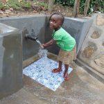 The Water Project: Buyangu Community, Mukhola Spring -  Enjoying The Spring Water