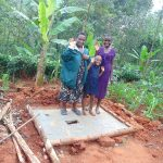 The Water Project: Shivembe Community, Murumbi Spring -  New Sanitation Platform Owners