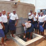 The Water Project: Kamimei Secondary School -  Girls With The Rain Tank