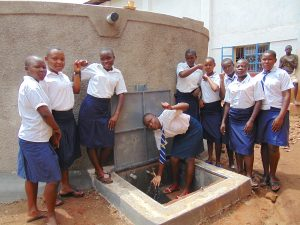 The Water Project:  Girls With The Rain Tank