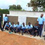 The Water Project: Kerongo Secondary School -  Boys Pose With Their New Latrines