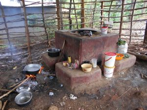 The Water Project:  Main Cook Stove Inside Kitchen