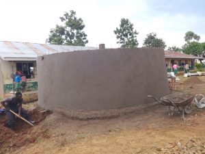 The Water Project:  Rain Tank Walls And Interior Pillar Cemented