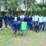 The Water Project: Kerongo Secondary School -  Students Pose With Handwashing Station
