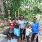 The Water Project: Buyangu Community, Mukhola Spring -  Field Officer Christine With Spring Users