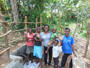 The Water Project:  Field Officer Christine With Spring Users
