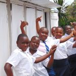 The Water Project: Kamimei Secondary School -  Girls Celebrate New Latrines