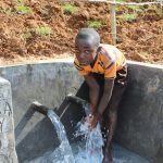 The Water Project: Malimali Community, Shamala Spring -  Enjoying The Spring Water