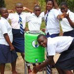 The Water Project: Kamimei Secondary School -  Girls With A Handwashing Station