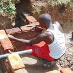 The Water Project: Kimarani Community, Kipsiro Spring -  Spring Wall Measurements