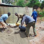 The Water Project: Kerongo Secondary School -  Mixing Cement