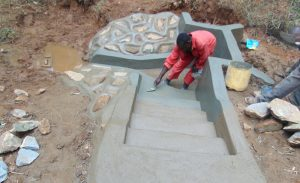 The Water Project:  Stair Plastering